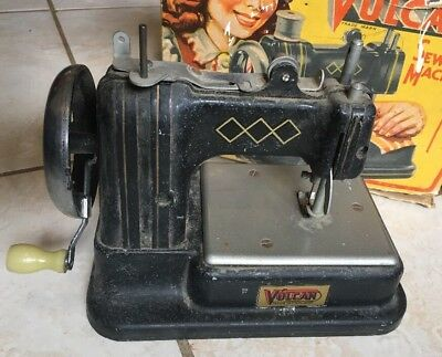 Vintage Childs Vulcan Toy Working Sewing Machine - Made In England