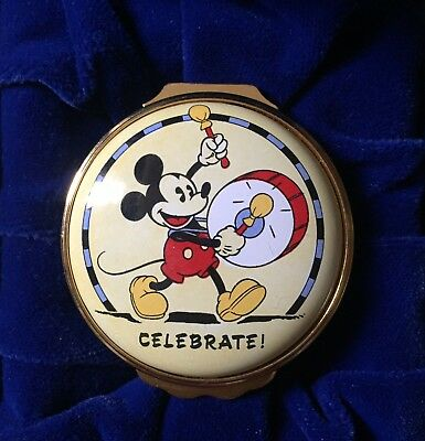 Halcyon Days Mickey Classic Enamels Mickey Mouse With Drum Celebrate! Box