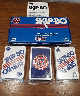 Skip-Bo Family Card Game by UNO 1989  FREE POSTAGE