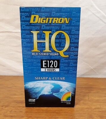 1 Digitron HQ E120 (2 Hour) VHS tapes Blank NEW