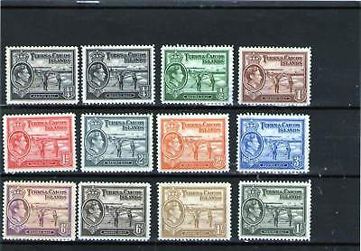 Turks & Caicos Islands King George V1 Mint Stamps With Sades Part Set