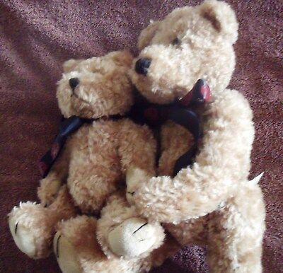 Mg Owners Club Teddy Bears  15 And 11 Inches Tall Fully Jointed