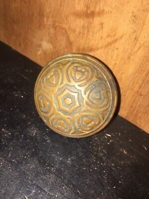 ORNATE BRASS DOORKNOB Victorian  ANTIQUE HARDWARE.