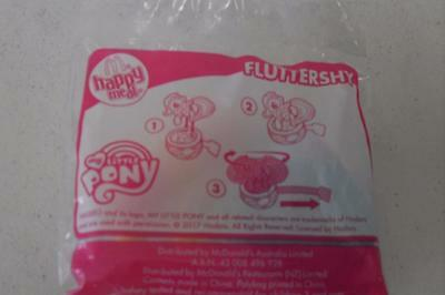 Mcdonald's 2017-My Little Pony Happy Meal Toy-FLUTTERSHY -New In Sealed Packet