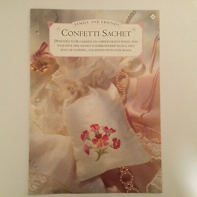 Needlework pattern: Embroidered confetti sachet design and instructions