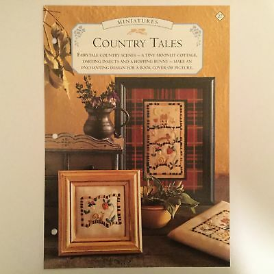 Needlework pattern: Embroidered stylised country side design and instructions