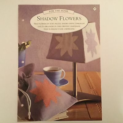 Needlework pattern: Lampshade shadow flowers design and instructions