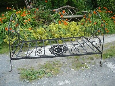 Antique French Wrought Iron Day Bed 4ft