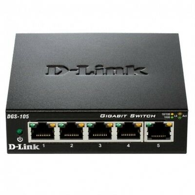 Switch D-Link DGS-105 5 Puertos Gigabit