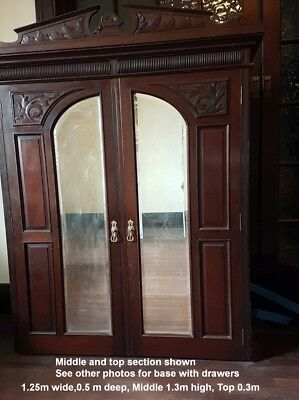 Antique Victorian Style Timber Wardrobe