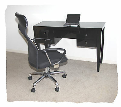 Wave Hi Gloss Black 4 Drawer Desk - BRAND NEW