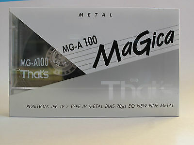 That´s MG-A 100 Metal Audiokassette, Type IV, OVP, 93-95, Tape, Compact Cassette