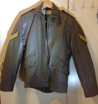 Australian Army Leather Motorcycle Jacket - Obsolete