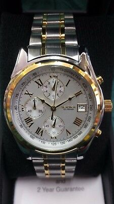 Sekonda Men's (3878) Chronograph Two/tone Watch ~Bnib~No Reserve