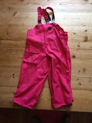 Togz Waterproof Trousers Dungarees Age 3/4 110cm Pink Excellent Condition