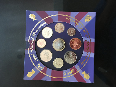The 1998 United Kingdom Brilliant Uncirculated Coin Collection - UK Seller
