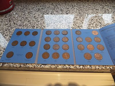 1930 - 1966 Penny Collection In Whitman Folder Including 1950/1951/1953 Pennies