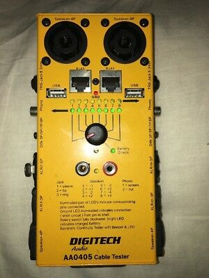 Roadie Cable Tester Digitech AA0405