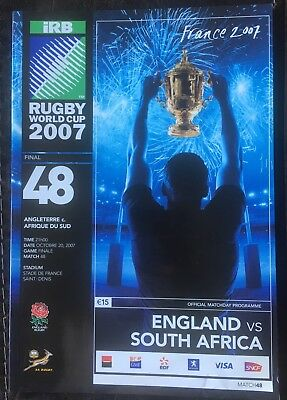 2007 Rugby World Cup Final England V South Africa Programme