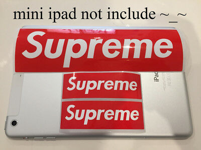 Supreme Package Vinyl Sticker Snowboard Luggage Car Laptop Wall Red Box Logo