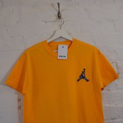 7229135187c2 Biggie x Jordan Mic Slam Dunk Hip Hop Notorious BIG Yellow Tee T-shirt by