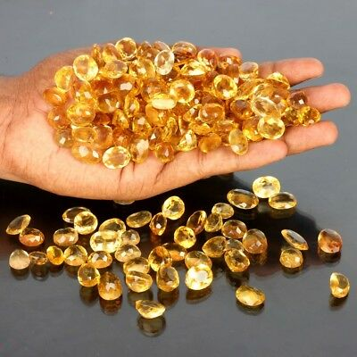 100 Ct Top Golden Color high quality Russian Citrine Gemstone lot  6-10 PCS