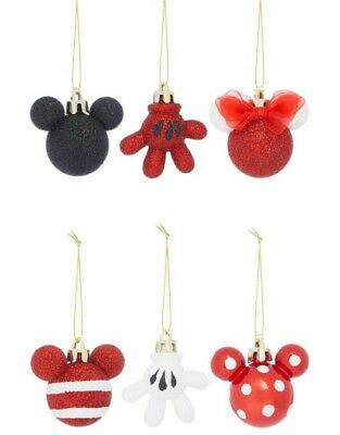 Primark Disney Mini 6 Pack Mickey Christmas Baubles Sold Out Limited Edition