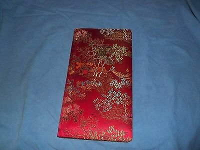 Vintage Address Book with Asian Book Cloth Cover Telephone Number Address