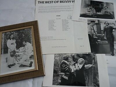 The benny hill show best of press kit + framed orginal photos tv movie