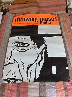 "Throwing Muses Limbo HUGE ORIGINAL 60""x40"" OFFICIAL PROMO FLY POSTER 4AD"