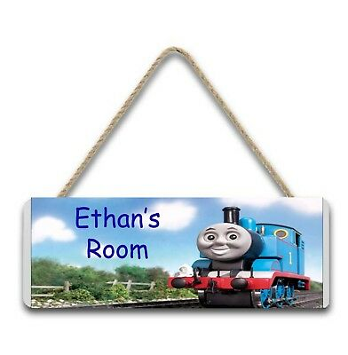 Children's personalised Thomas the Tank door and wall signs