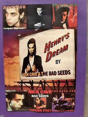 Nick Cave Bad Seeds Henry's Dream (+others) ORIGINAL 1992 PROMO POSTER mute