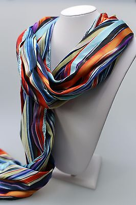 EVENTS Rainbow print scarf multi in colour in gift box new with tag