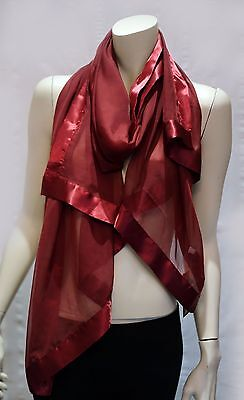 CONDURA long scarf - wrap burgundy in colour new tag polyester