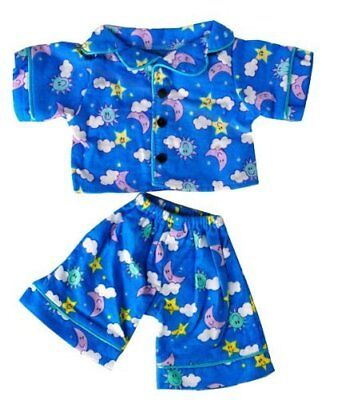 Sunny Days Blue Pjs Teddy Bear Clothes Outfit Fits Most 14 - 18 Build-A-Bear,