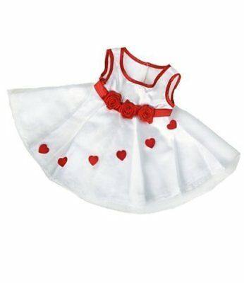 Adorable Hearts Christmas Dress Outfit to fit 15 build a Bear Factory Bears plu