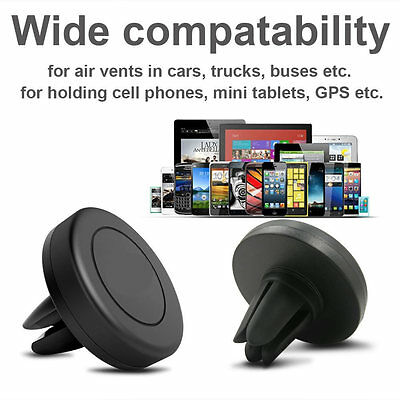 Magnetic Magnet Disc In Car Mobile Phone Holder Air Vent Mount Kit for iPhone 6s