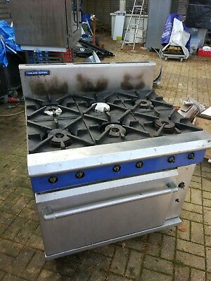Blue seal 6 burner Cooker Oven Gas *Excellent Condition*