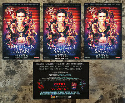 AMERICAN SATAN Movie 2017 Ltd Ed 3 RARE Stickers Lot +FREE Metal Stickers! BVB