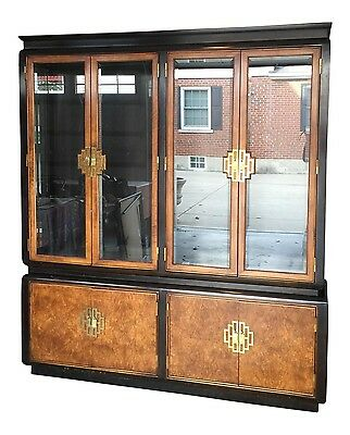 Vintage Chin Hua Two-Piece China Display Cabinet