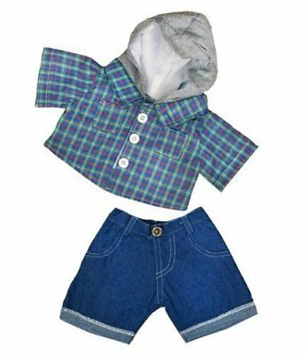Skater Hoodie wDenim Pants Teddy Bear Clothes Outfit Fits Most 14 - 18 Build-