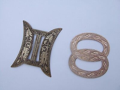Two  Antique  Small Silver Buckles