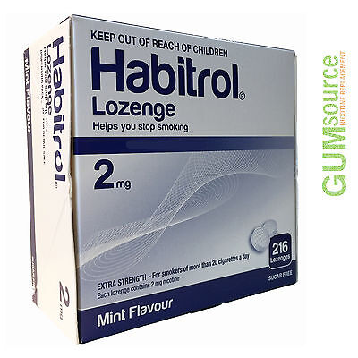 Habitrol 2mg Bulk MINT  1 dented box 216 pieces Nicotine Quit Smoking Lozenges