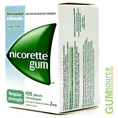 Nicorette 2mg CLASSIC  1 dented box 105 pieces Nicotine Quit Smoking Gum