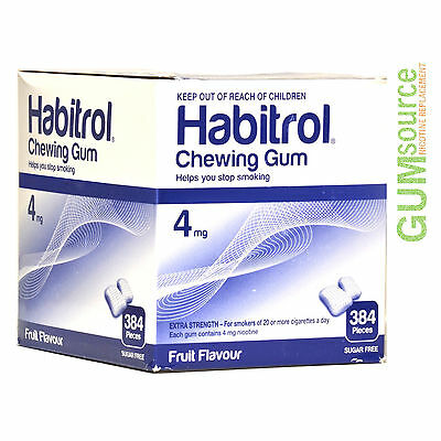 Habitrol 4mg Bulk FRUIT  1 dented box 384 pieces Nicotine Quit Smoking Gum