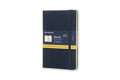Moleskine Two-Go Oriental Blue Medium Ruled-Plain Notebook