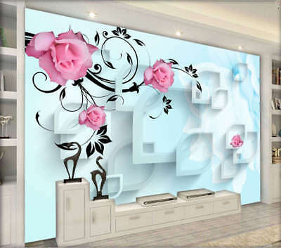 Quiet Curly Lily 3D Full Wall Mural Photo Wallpaper Printing Home Kids Decor