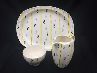 "Lovely Midwinter Stylecraft ""fiesta"" Ware Large Plate, Jug And Bowl"