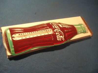 50s VINTAGE ADVERTISING COCA COLA 17 THERMOMETER ALL ORIGINAL near mint w/box