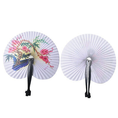 Chinese Classic Folded Small Round Paper Fans Kids Children's Paper Toy